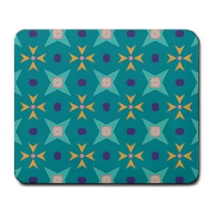 Flowers And Stars Pattern   			large Mousepad by LalyLauraFLM