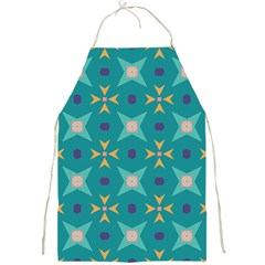 Flowers And Stars Pattern   full Print Apron by LalyLauraFLM