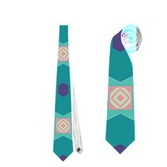 Flowers And Stars Pattern   Necktie
