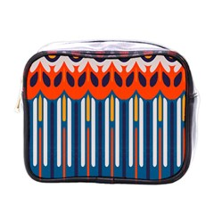 Textured Shapes In Retro Colors    mini Toiletries Bag (one Side) by LalyLauraFLM