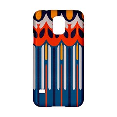 Textured Shapes In Retro Colors    			samsung Galaxy S5 Hardshell Case by LalyLauraFLM