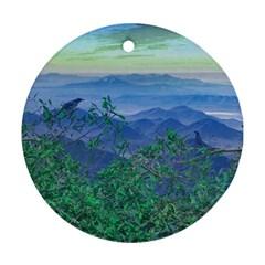 Fantasy Landscape Photo Collage Ornament (round)  by dflcprints
