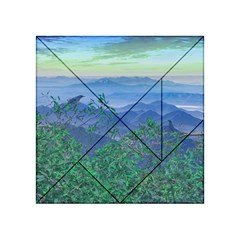 Fantasy Landscape Photo Collage Acrylic Tangram Puzzle (4  X 4 ) by dflcprints