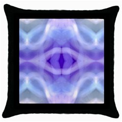 Beautiful Blue Purple Pastel Pattern, Throw Pillow Cases (black)