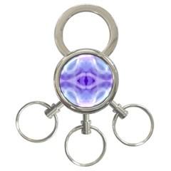 Beautiful Blue Purple Pastel Pattern, 3 Ring Key Chains