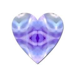 Beautiful Blue Purple Pastel Pattern, Heart Magnet by Costasonlineshop