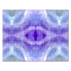 Beautiful Blue Purple Pastel Pattern, Rectangular Jigsaw Puzzl by Costasonlineshop