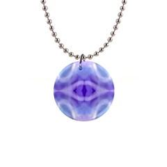 Beautiful Blue Purple Pastel Pattern, Button Necklaces by Costasonlineshop