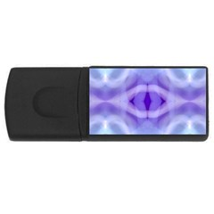Beautiful Blue Purple Pastel Pattern, Usb Flash Drive Rectangular (4 Gb)  by Costasonlineshop