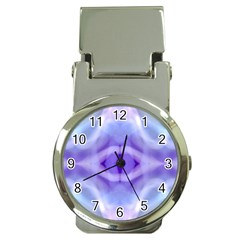 Beautiful Blue Purple Pastel Pattern, Money Clip Watches