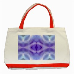 Beautiful Blue Purple Pastel Pattern, Classic Tote Bag (Red) by Costasonlineshop