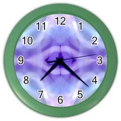 Beautiful Blue Purple Pastel Pattern, Color Wall Clocks by Costasonlineshop