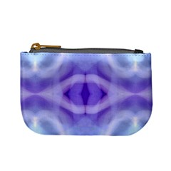 Beautiful Blue Purple Pastel Pattern, Mini Coin Purses