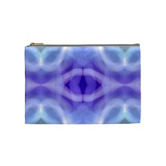 Beautiful Blue Purple Pastel Pattern, Cosmetic Bag (medium)