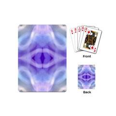 Beautiful Blue Purple Pastel Pattern, Playing Cards (mini)  by Costasonlineshop
