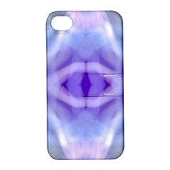 Beautiful Blue Purple Pastel Pattern, Apple Iphone 4/4s Hardshell Case With Stand by Costasonlineshop