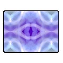 Beautiful Blue Purple Pastel Pattern, Double Sided Fleece Blanket (small)  by Costasonlineshop