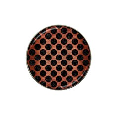 Circles2 Black Marble & Copper Brushed Metal (r) Hat Clip Ball Marker (4 Pack) by trendistuff
