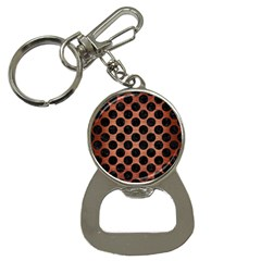 Circles2 Black Marble & Copper Brushed Metal (r) Bottle Opener Key Chain by trendistuff