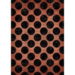 CIRCLES2 BLACK MARBLE & COPPER BRUSHED METAL (R) GIRL 3D Greeting Card (7x5) Inside