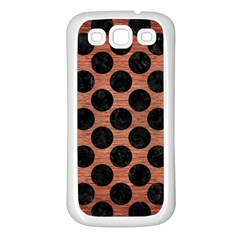 Circles2 Black Marble & Copper Brushed Metal (r) Samsung Galaxy S3 Back Case (white) by trendistuff