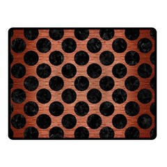 Circles2 Black Marble & Copper Brushed Metal (r) Double Sided Fleece Blanket (small) by trendistuff