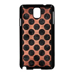 Circles2 Black Marble & Copper Brushed Metal (r) Samsung Galaxy Note 3 Neo Hardshell Case (black) by trendistuff