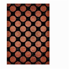 Circles2 Black Marble & Copper Brushed Metal Large Garden Flag (two Sides) by trendistuff