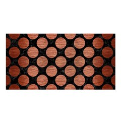 Circles2 Black Marble & Copper Brushed Metal Satin Shawl by trendistuff