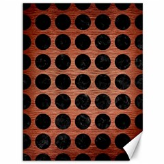 Circles1 Black Marble & Copper Brushed Metal (r) Canvas 36  X 48  by trendistuff