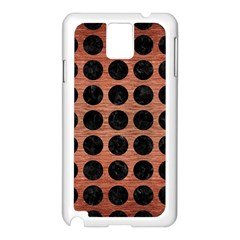 Circles1 Black Marble & Copper Brushed Metal (r) Samsung Galaxy Note 3 N9005 Case (white) by trendistuff