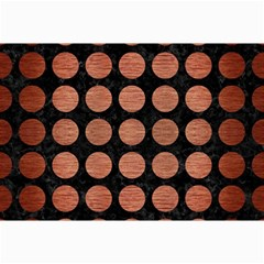 Circles1 Black Marble & Copper Brushed Metal Collage 12  X 18  by trendistuff