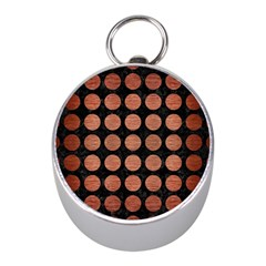 Circles1 Black Marble & Copper Brushed Metal Silver Compass (mini) by trendistuff