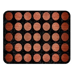 Circles1 Black Marble & Copper Brushed Metal Double Sided Flano Blanket (large) by trendistuff