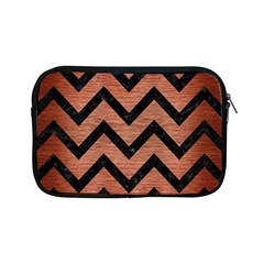 Chevron9 Black Marble & Copper Brushed Metal (r) Apple Ipad Mini Zipper Case by trendistuff