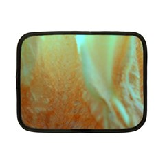 Floating Teal And Orange Peach Netbook Case (small)  by timelessartoncanvas