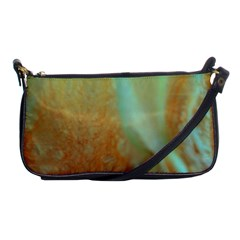 Floating Teal And Orange Peach Shoulder Clutch Bags by timelessartoncanvas