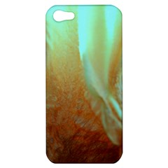Floating Teal And Orange Peach Apple Iphone 5 Hardshell Case by timelessartoncanvas