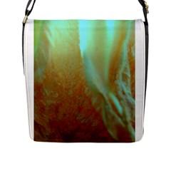 Floating Teal And Orange Peach Flap Messenger Bag (l)  by timelessartoncanvas