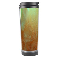 Floating Teal And Orange Peach Travel Tumblers by timelessartoncanvas