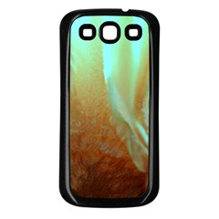 Floating Teal And Orange Peach Samsung Galaxy S3 Back Case (black) by timelessartoncanvas