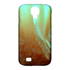 Floating Teal And Orange Peach Samsung Galaxy S4 Classic Hardshell Case (pc+silicone) by timelessartoncanvas