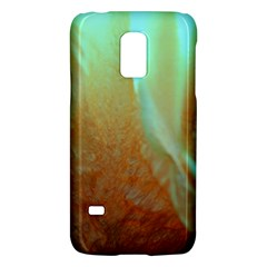 Floating Teal And Orange Peach Galaxy S5 Mini by timelessartoncanvas