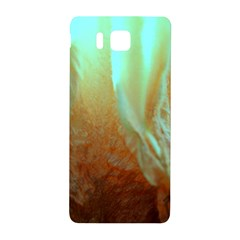 Floating Teal And Orange Peach Samsung Galaxy Alpha Hardshell Back Case by timelessartoncanvas