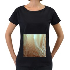 Floating Subdued Orange And Teal Women s Loose Fit T Shirt (black) by timelessartoncanvas