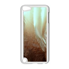Floating Subdued Orange and Teal Apple iPod Touch 5 Case (White) by timelessartoncanvas