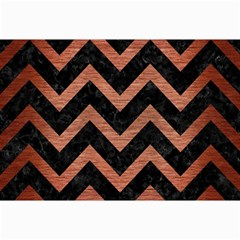 Chevron9 Black Marble & Copper Brushed Metal Collage 12  X 18