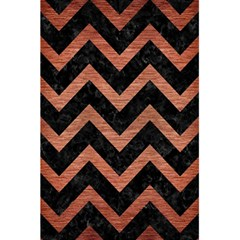 Chevron9 Black Marble & Copper Brushed Metal 5 5  X 8 5  Notebook by trendistuff