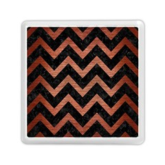 Chevron9 Black Marble & Copper Brushed Metal Memory Card Reader (square) by trendistuff
