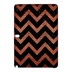 Chevron9 Black Marble & Copper Brushed Metal Samsung Galaxy Tab Pro 12 2 Hardshell Case by trendistuff